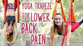 Picture of Back Pain Relief with Inversion Therapy, Yoga Trapeze Tutorial At Home, Yoga Routine for Back Pain