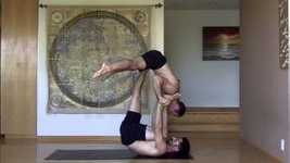 Picture of AcroYoga Training Video: Reverse Star (courtesy of Daniel Scott Yoga)
