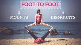 Picture of AcroYoga Tutorial: 3 Ways in and out of Foot To Foot